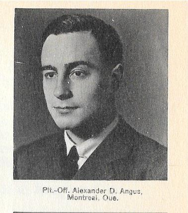 Canadian Fallen Soldier - Pilot Officer ALEXANDER DAVID ANGUS