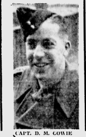 Canadian Fallen Soldier - Captain DONALD MACARTHUR COWIE