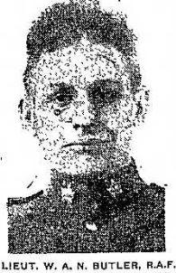 Canadian Fallen Soldier - Second Lieutenant WILLIAM AMOS NORRIS BUTLER