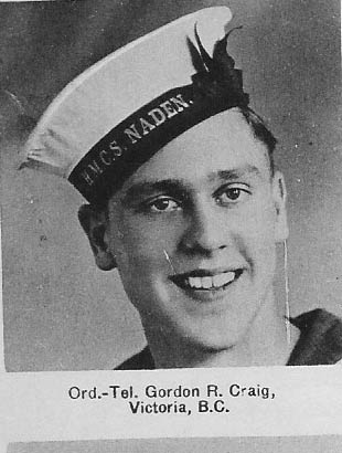 Canadian Fallen Soldier - Ordinary Telegraphist GORDON ROBERT CRAIG