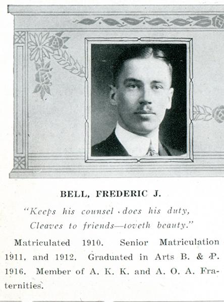 Canadian Fallen Soldier - Flight Lieutenant FREDERICK JUDSON BELL