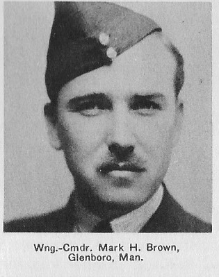 Canadian Fallen Soldier - Wing Commander MARK HENRY BROWN D.F.C AND BAR