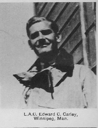 Canadian Fallen Soldier - Leading Aircraftman EDWARD CLAREMONT CARLEY