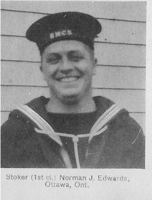 Canadian Fallen Soldier - Stoker NORMAN JACK EDWARDS