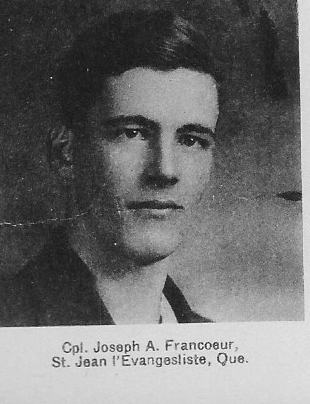 Canadian Fallen Soldier - Corporal JOSEPH ARTHUR FRANCOEUR