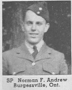 Canadian Fallen Soldier - Sergeant Pilot FREDERICK NORMAN ANDREW
