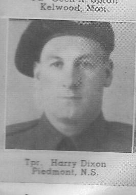 Canadian Fallen Soldier - Trooper HARRY DIXON